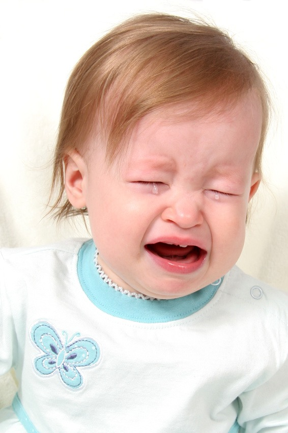 Little Baby Girl Crying, not a happy baby